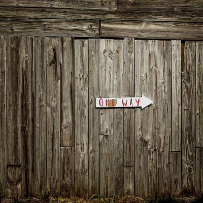 Photograph - One Way by Jerry Golab