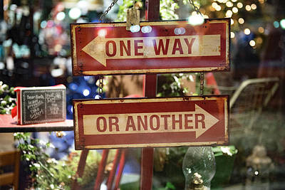 Photograph - One Way Or Another by Angela Moyer