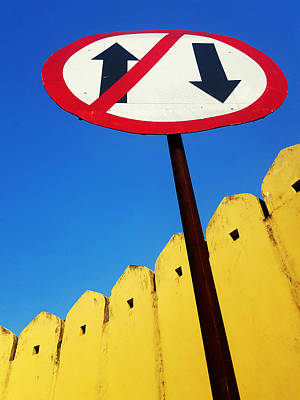 Abstract Photograph - One Way Sign by Prakash Ghai
