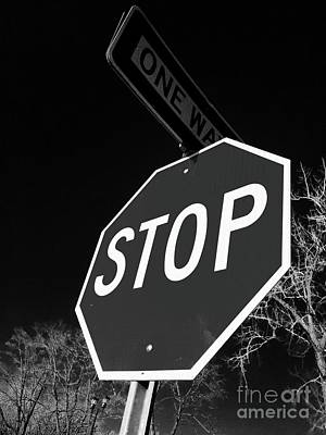 Photograph - One Way Stop by Trish Hale