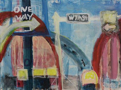 Painting - One Way To 7th Street by Susan Stone