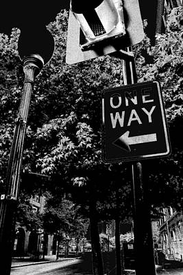 One Way To Go Art Print by Gulf Island Photography and Images