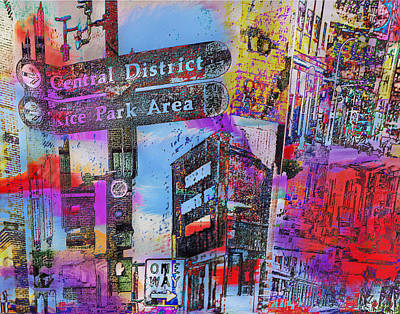 One Way To Rice Park 2 Art Print
