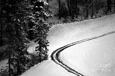 Photograph - One Way - Winter In Switzerland by Susanne Van Hulst