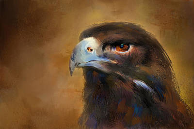 Eagle Painting - One White Feather by Jai Johnson