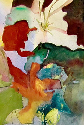 Painting - One White Flower by Carole Johnson