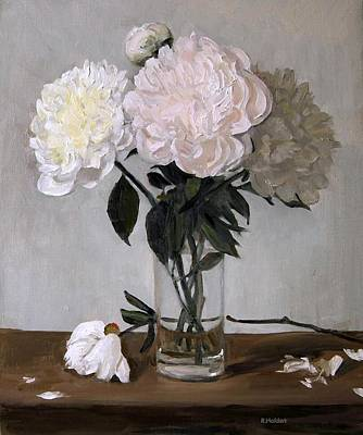Painting - One White Peony Too Many by Robert Holden