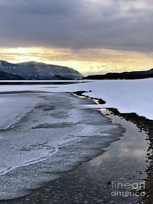 Photograph - One Winter Day By The Lake 2 by Victor K