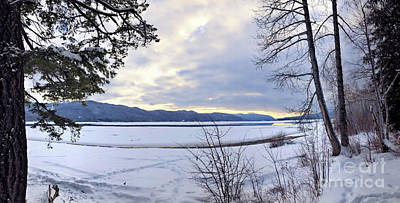 Photograph - One Winter Day By The Lake 3 by Victor K