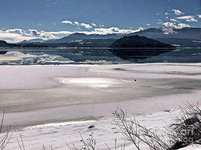Photograph - One Winter Day By The Lake 8 by Victor K