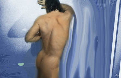 Photograph - One With The Shower by Wayne King