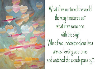 Painting - One With The Sky - With Poem by Jeni Bate