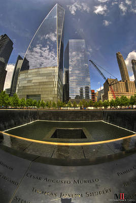 Photograph - One World Observatory And World Trade Center North Pool by Michael Frank Jr