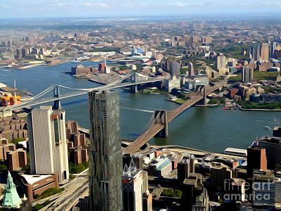 Photograph - One World Observatory View #1 by Ed Weidman