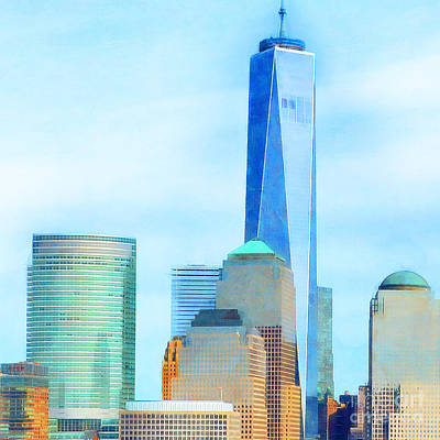 Photograph - One World Trade Center Lower Manhatten New York Skyline 20180506 Square by Wingsdomain Art and Photography