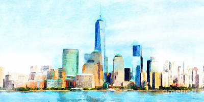 Photograph - One World Trade Center Lower Manhatten New York Skyline 20180506 by Wingsdomain Art and Photography