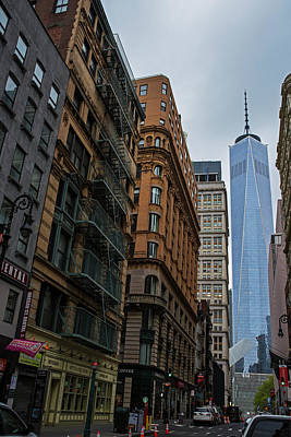 Photograph - One World Trade Center New York Ny From Nassau Street by Toby McGuire
