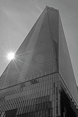 Photograph - One World Trade Center New York Ny Sunset Black And White by Toby McGuire