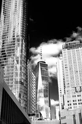 Photograph - One World Trade Center Reflections by John Rizzuto