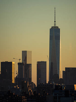 Photograph - One World Trade Center Sunset by Alan Roberts