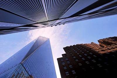 Photograph - One World Trade Center With Other Skyscrapers - Angle View by Matt Harang