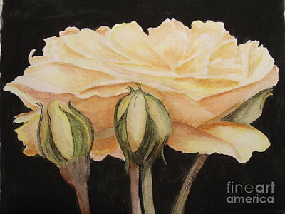 Painting - One Yellow Beauty  by Carol Grimes