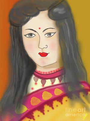 One Young Woman Art Print by Artist Nandika Dutt