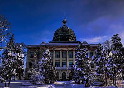 Rhinelander Photograph - Oneida County Courthouse In December by Dale Kauzlaric