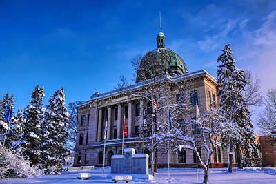 Rhinelander Photograph - Oneida County Courthouse In Winter by Dale Kauzlaric