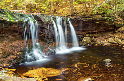 Photograph - Oneida Fall At Ricketts Glen by Steven Barrows
