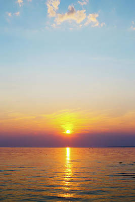 Photograph - Oneida Lake Sunset 3 by David Stasiak