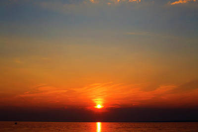Photograph - Oneida Lake Sunset 4 by David Stasiak