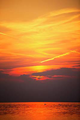 Photograph - Oneida Lake Sunset 6 by David Stasiak