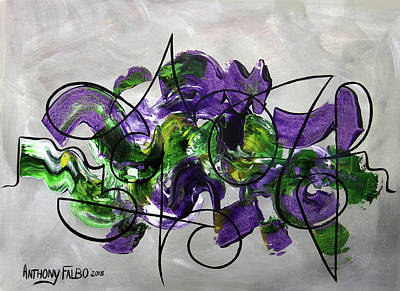 Oneness Painting - Oneness Matthew 19 4-6 by Anthony Falbo