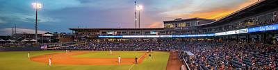 Oneok Stadium Panoramic - Tulsa Drillers - Tulsa Oklahoma Art Print by Gregory Ballos