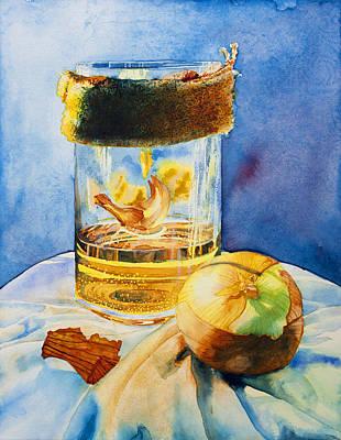 Onion And Burlap Original by Corin Newton