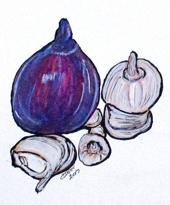 Painting - Onion And Garlic by Clyde J Kell