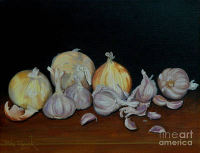 Painting - Onion And Garlic by Michael Nowak