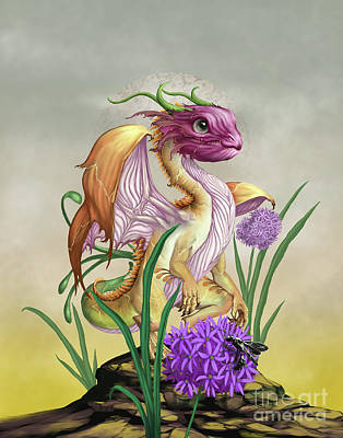 Digital Art - Onion Dragon by Stanley Morrison