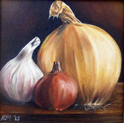 Onion, Garlic And Shallot Art Print