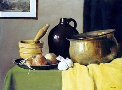 Painting - Onions And Garlic by Robert Holden