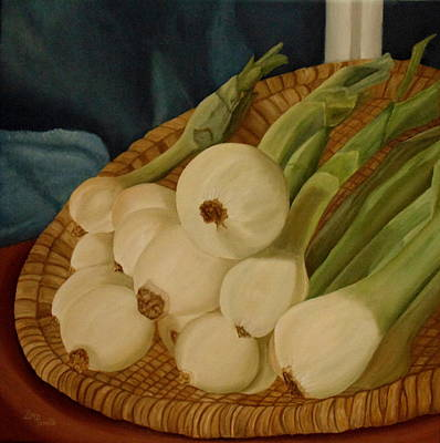 Onion Painting - Onions by Angeles M Pomata