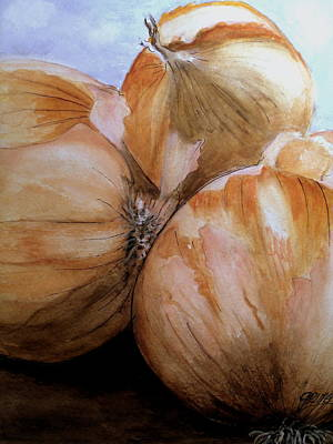 Painting - Onions by Carol Grimes
