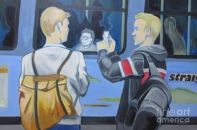 Painting - Onlooker by Sandra Yuen MacKay