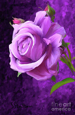 Painting - Only A Rose by Shirley Stalter