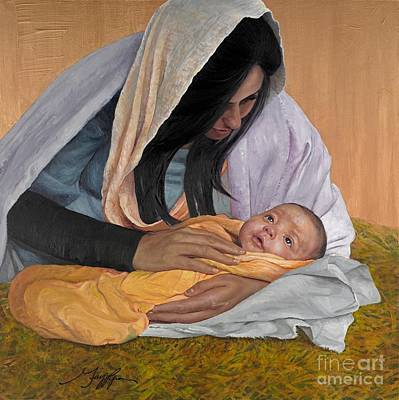 Painting - Only Begotten by GayLynn Ribeira