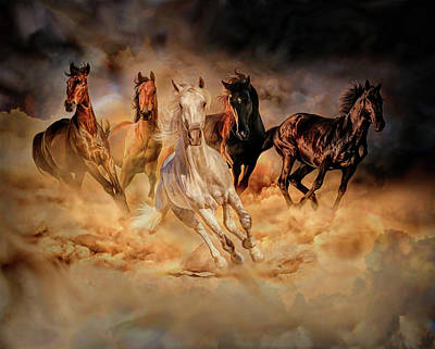 Digital Art - Only Dust From Under The Hooves by Lilia D