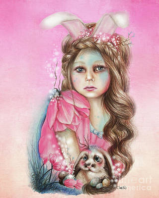Mixed Media - Only Friend In The World - Bunny by Sheena Pike