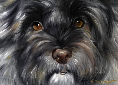Terrier Painting - Only Have Eyes For You by Mary Sparrow