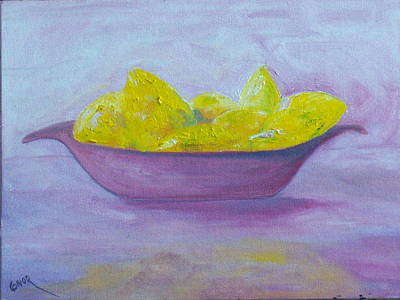 Impasto Painting - Only Lemons by Conor Murphy